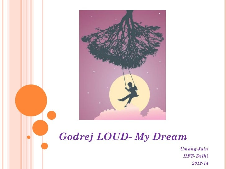 Godrej LOUD- My Dream                   Umang Jain                    IIFT- Delhi                        2012-14