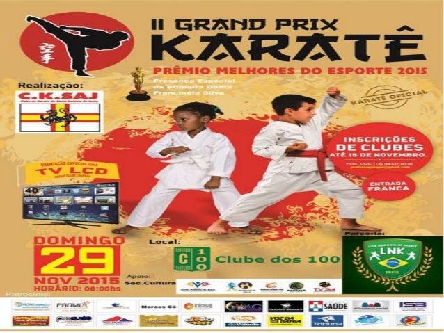 II Grand Prix de Karatê, Clube dos 100, Santo Antonio de Jesus-BA, 29.11.15