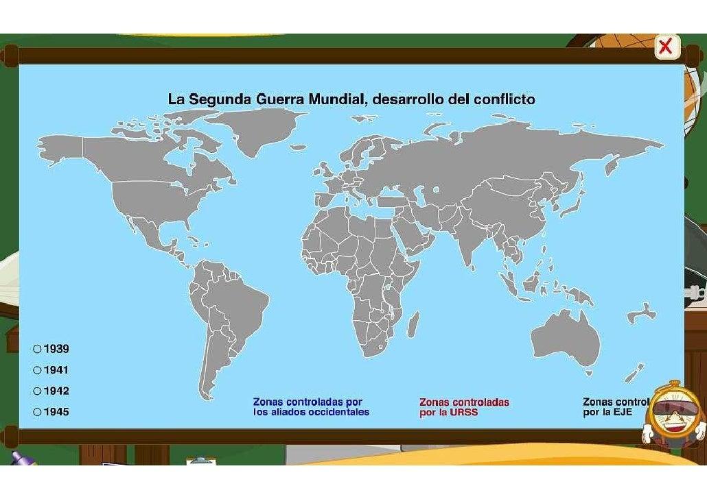 Mapa desarrollo del conflicto II Guerra Mundial