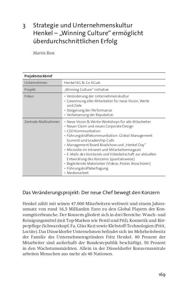 """169 3 Strategie und Unternehmenskultur Henkel – """"Winning Culture"""" ermöglicht überdurchschnittlichen Erfolg  Martin Roos ..."""