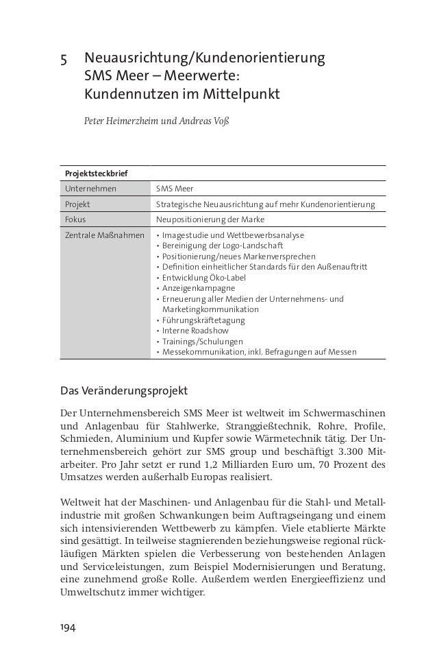 194 5Neuausrichtung/Kundenorientierung SMS Meer – Meerwerte: Kundennutzen im Mittelpunkt  Peter Heimerzheim und Andreas ...