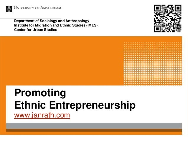 Department of Sociology and AnthropologyInstitute for Migration and Ethnic Studies (IMES)Center for Urban StudiesPromoting...