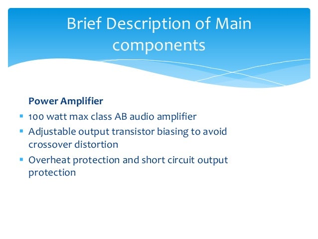 BLUETOOTH CONTROLLED HIGH POWER AUDIO AMPLIFIER (III-II minor project…
