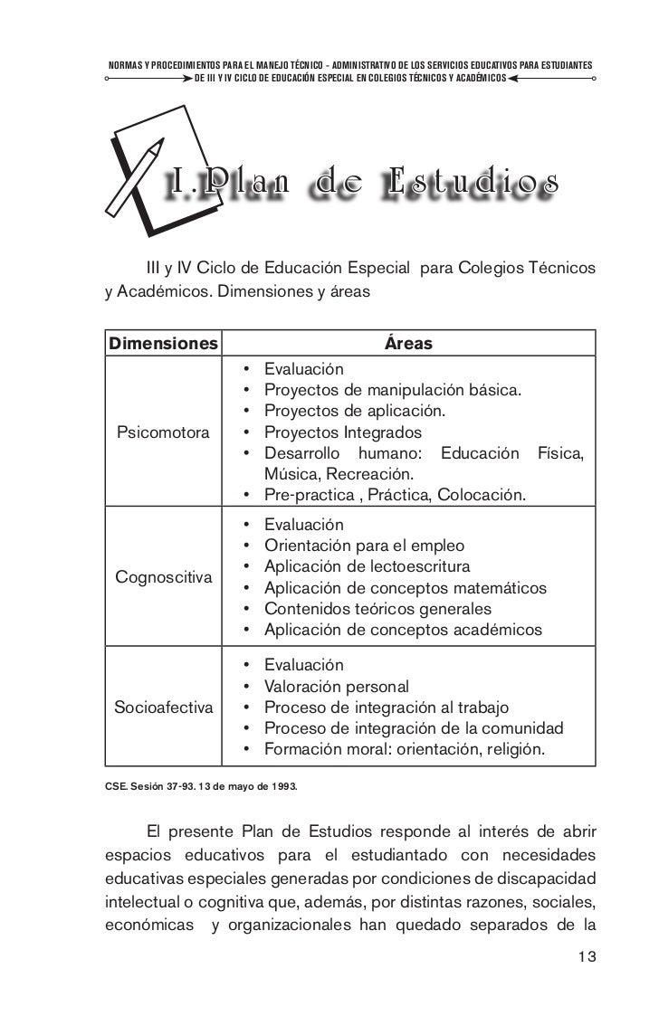 Normas y procedimientos para el manejo técnico-administrativo de los …