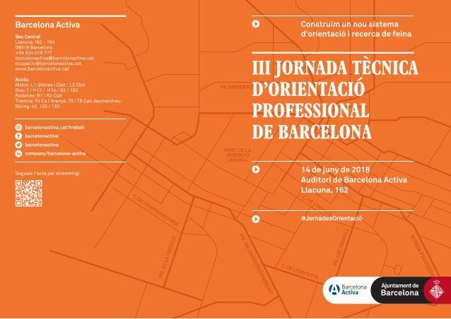 III Jornada Tècnica d'Orientació Professional de Barcelona
