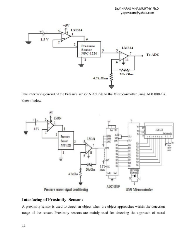 Proximity Sensor Interface Circuit - Circuit Diagram Symbols •