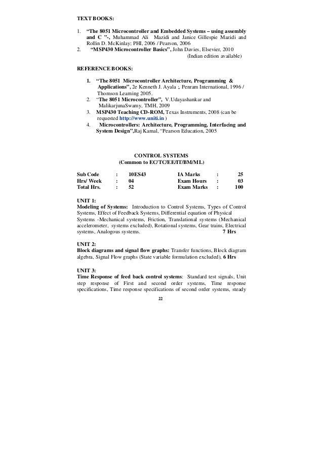 Vtu Syllabus 2010 Scheme Iii To Viii Semester