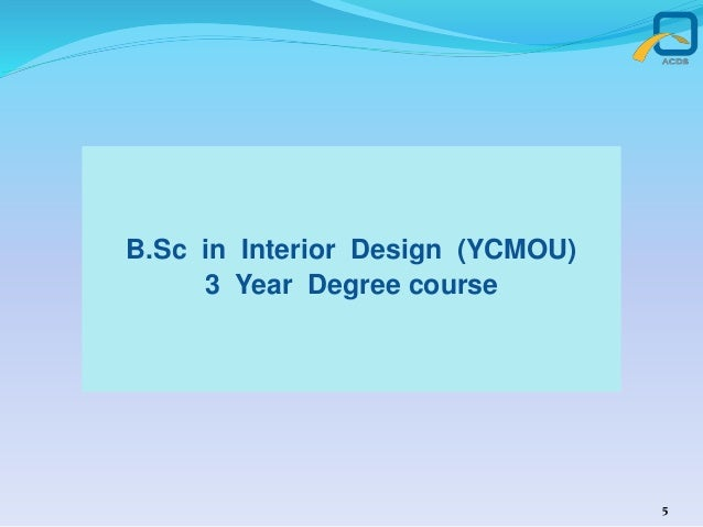 bsc in interior design ycmou 3 year degree course 5