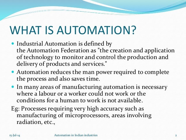 Industrial Automation In India