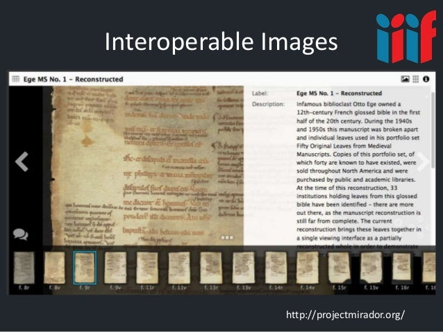 Interoperable Images http://projectmirador.org/