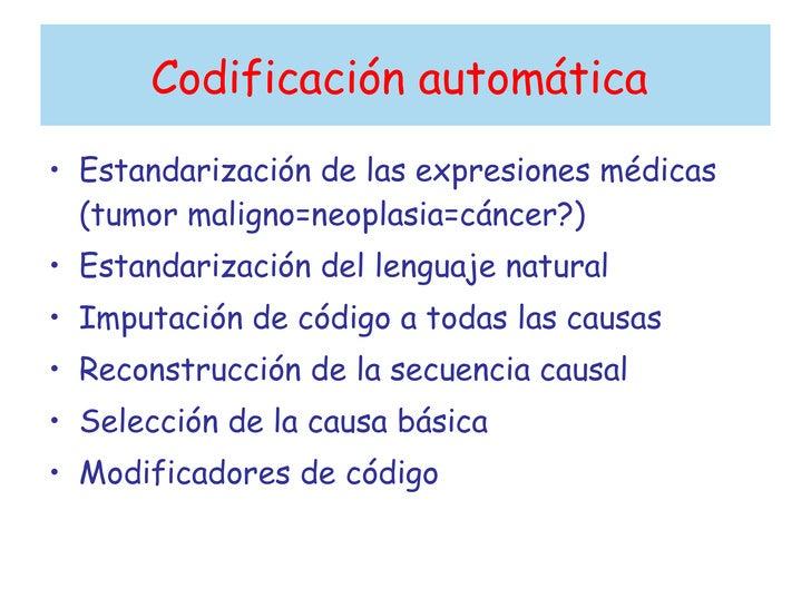 La codificación de las causas de muerte