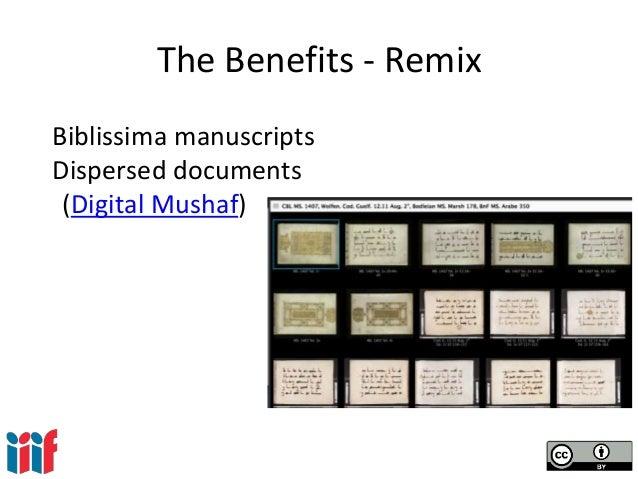 The Benefits - Remix Biblissima manuscripts Dispersed documents (Digital Mushaf)