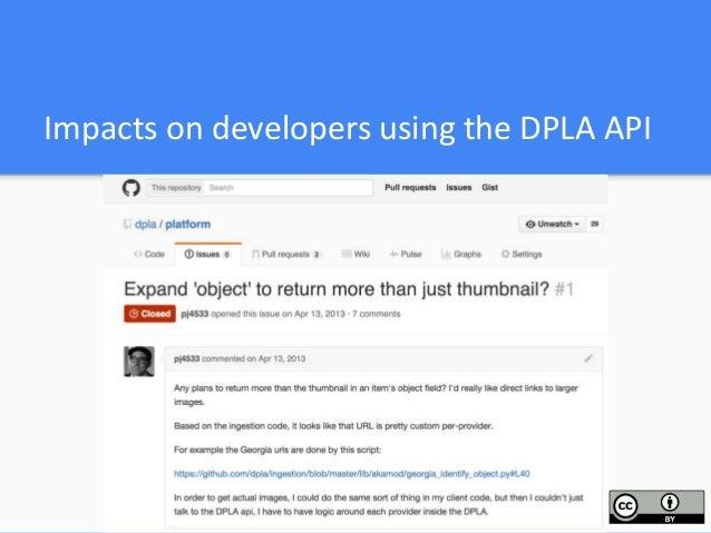 DPLA Hubs with IIIF implementations Production: image & presentation APIs Harvard University Library Digital Commonwealth/...