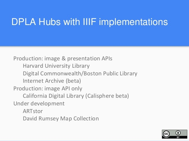 Implementation issues for DPLA Representation of IIIF resources in EDM/DPLA Metadata Application Profile Metadata about II...