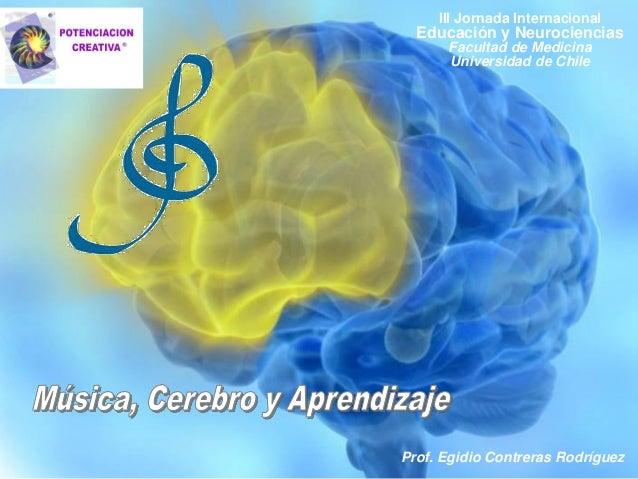 Prof. Egidio Contreras Rodríguez III Jornada Internacional Educación y Neurociencias Facultad de Medicina Universidad de C...