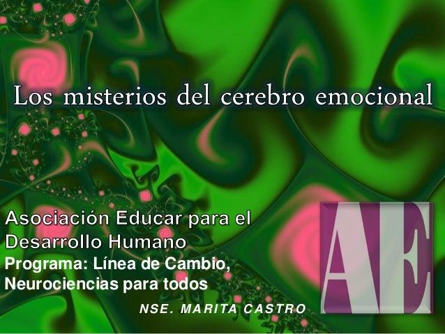 Programa: Línea de Cambio, Neurociencias para todos N SE. MA R ITA C A STR O