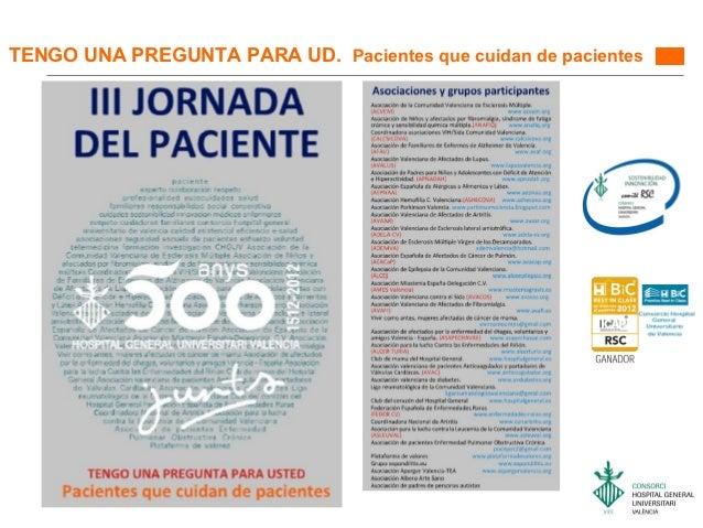 TENGO UNA PREGUNTA PARA UD. Pacientes que cuidan de pacientes