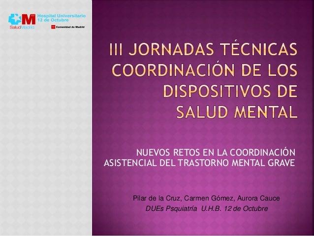 NUEVOS RETOS EN LA COORDINACIÓN ASISTENCIAL DEL TRASTORNO MENTAL GRAVE Pilar de la Cruz, Carmen Gómez, Aurora Cauce DUEs P...