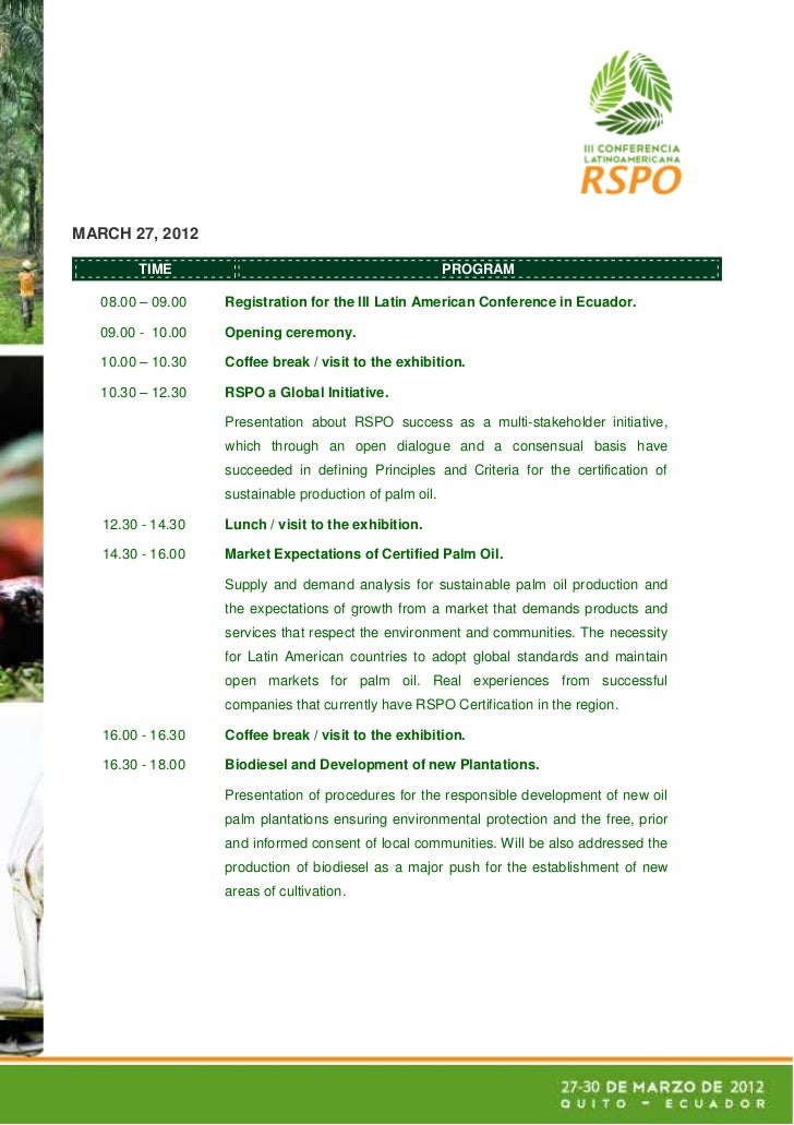 MARCH 27, 2012        TIME                                             PROGRAM   08.00 – 09.00   Registration for the III ...