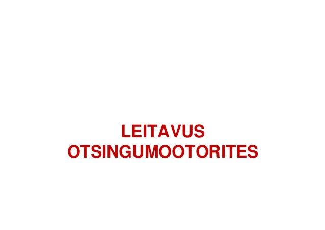 LEITAVUS OTSINGUMOOTORITES