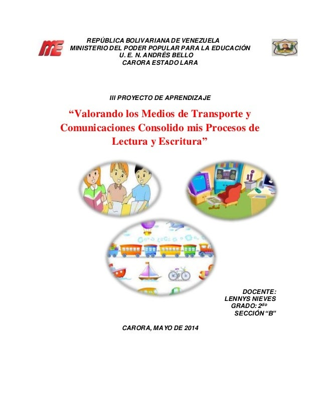 REPÚBLICA BOLIVARIANA DE VENEZUELA MINISTERIO DEL PODER POPULAR PARA LA EDUCACIÓN U. E. N. ANDRÉS BELLO CARORA ESTADO LARA...