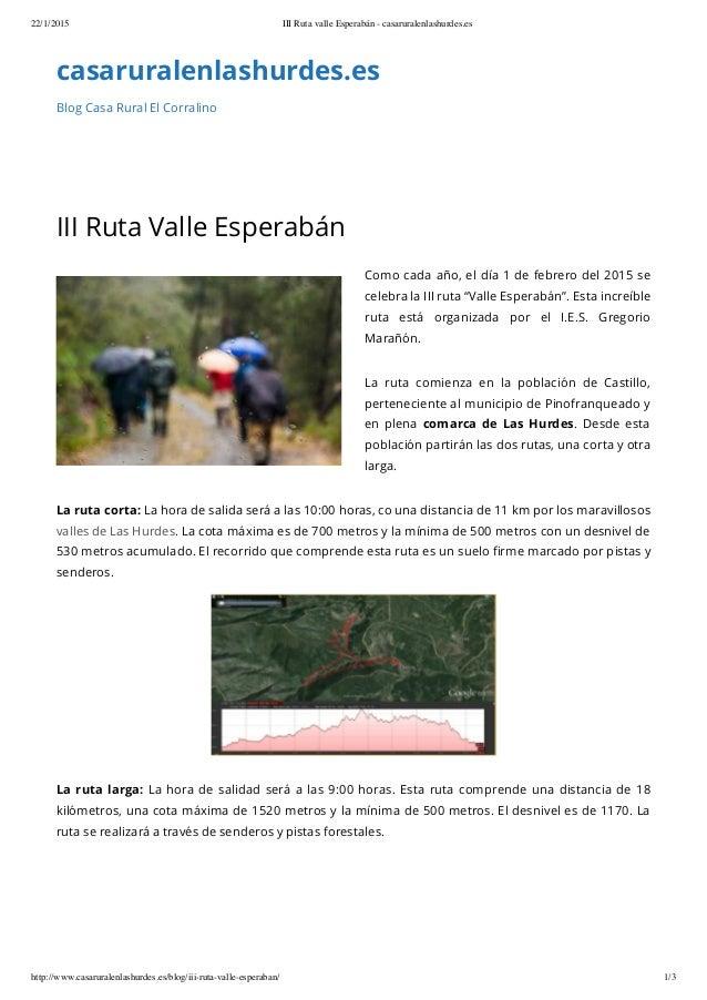 22/1/2015 III Ruta valle Esperabán - casaruralenlashurdes.es http://www.casaruralenlashurdes.es/blog/iii-ruta-valle-espera...