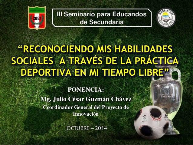 III seminario educandos-Habilidades Sociales, Deporte y Tiempo libre-octubre 2014
