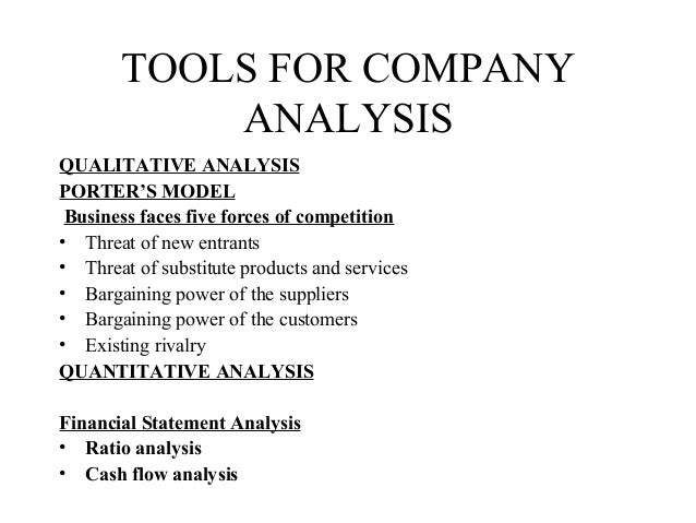 ... Analysis; 10. TOOLS FOR COMPANY ...