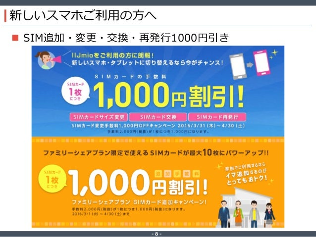 ‐ 8 ‐ 新しいスマホご利用の方へ  SIM追加・変更・交換・再発行1000円引き