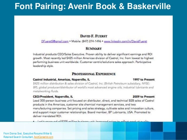 Charming ... Font: Avenir Book 11; 10. Within Font For A Resume