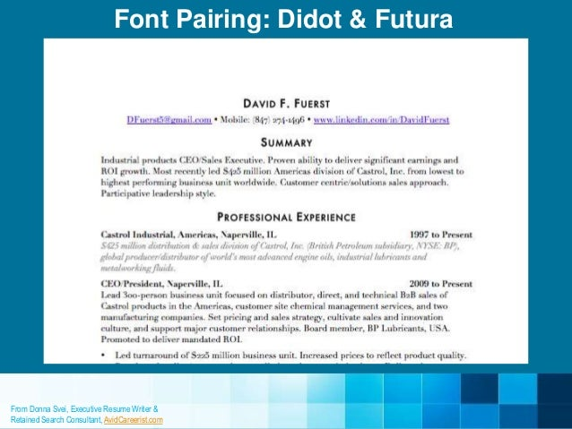 9 resume fonts designers love