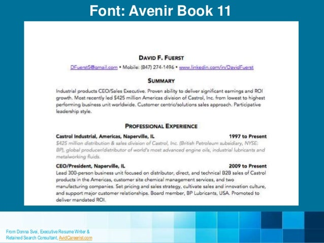 most professional font resume