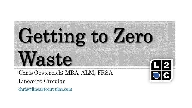 Chris Oestereich; MBA, ALM, FRSA Linear to Circular chris@lineartocircular.com