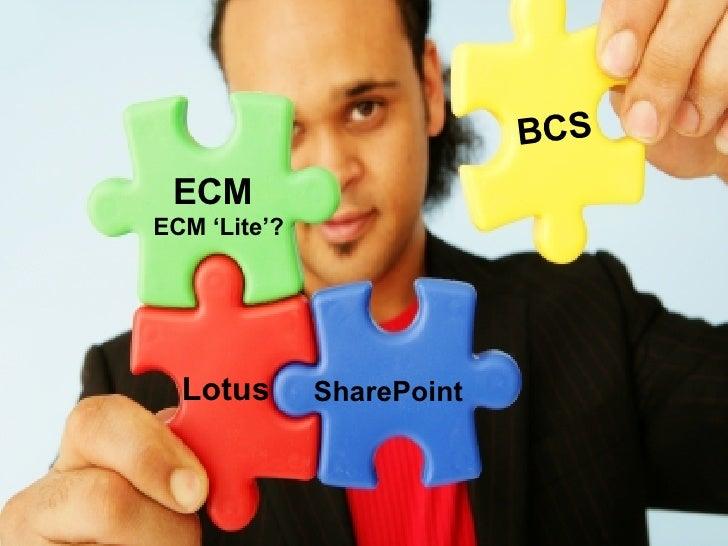 BCS ECM ECM 'Lite'? SharePoint Lotus