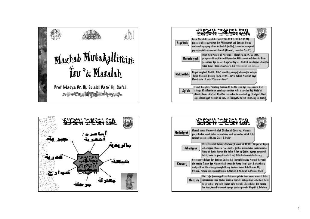 Imam Abu al-Hasan al-Asy'ari (260-324 H/874-935 M),                                               Asya'irah     pengasas a...