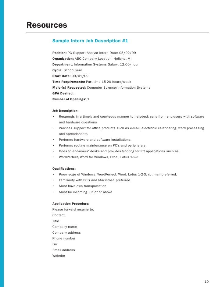 Hr Job Description Template Eliolera Com