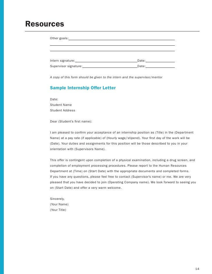 Internship supervisor evaluation form mersnoforum employer internship toolkit spiritdancerdesigns Gallery