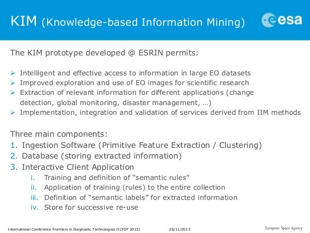 Big Data, Data and Information Mining for Earth Observation