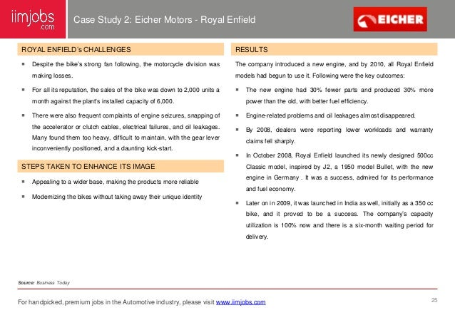 csr case study eicher motors india India it is part of the  ,force motors, eicher motors commercial vehicles passenger vehicle  maruti udyog and hindustan motors are manufacturing cars,.