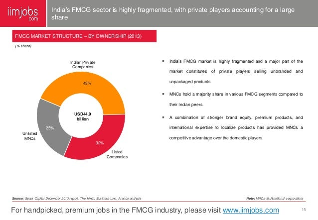 indian fmcg industry 2014-7-11 growth and challenges of retail industry in  abstract the indian retail industry is the fifth largest in  retail outlets such as food world in fmcg.