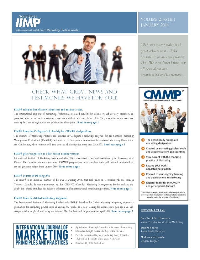 Volume 2, Issue 1 January 2014 International Institute of Marketing Professionals  2013 was a year sealed with great achie...
