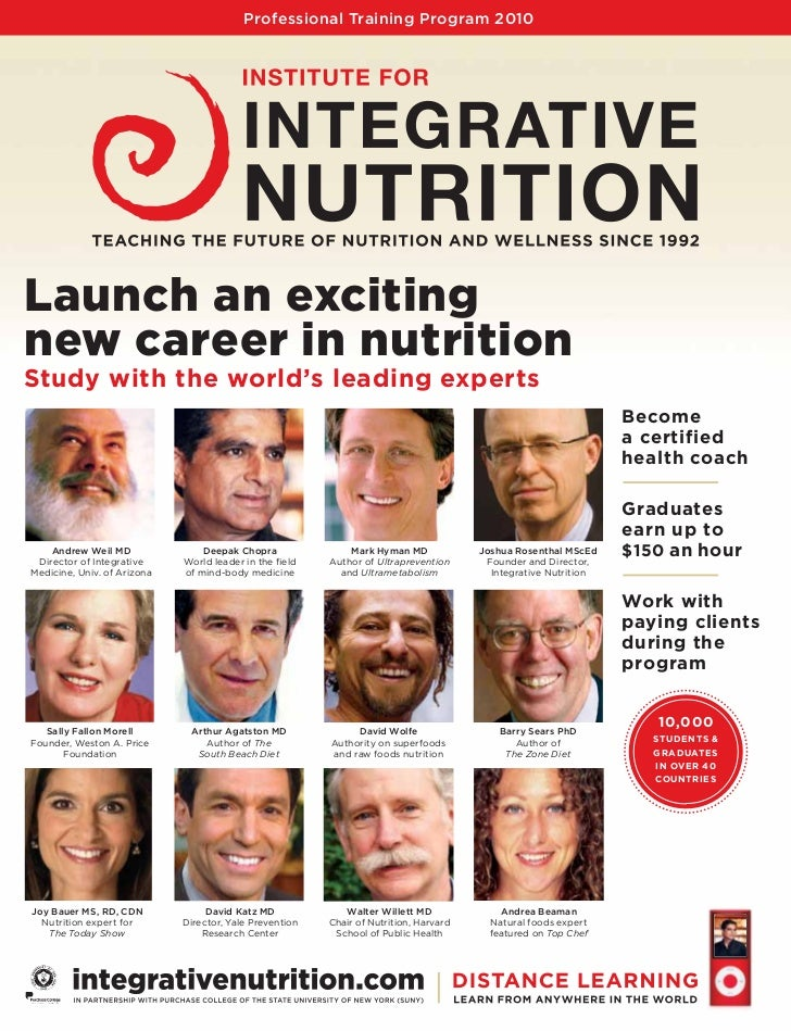 Professional Training Program 2010     Launch an exciting new career in nutrition Study with the world's leading experts  ...