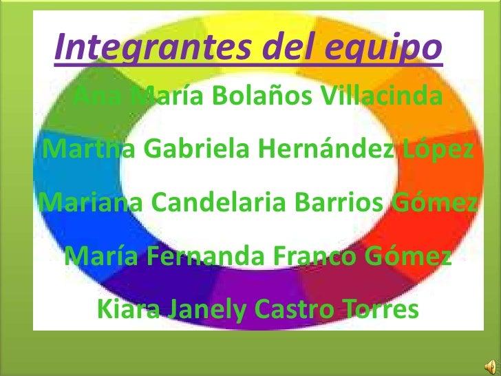 Integrantes del equipo  Ana María Bolaños VillacindaMartha Gabriela Hernández LópezMariana Candelaria Barrios Gómez María ...