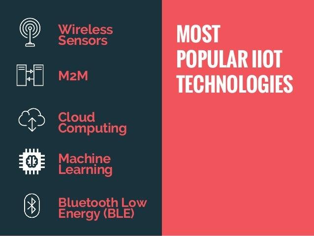 Wireless Sensors M2M Cloud Computing Machine Learning Bluetooth Low Energy (BLE) MOST POPULAR IIOT TECHNOLOGIES