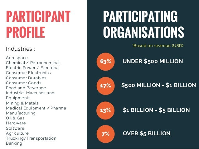 PARTICIPANT PROFILE PARTICIPATING ORGANISATIONS Industries : Aerospace Chemical / Petrochemical - Electric Power / Electr...