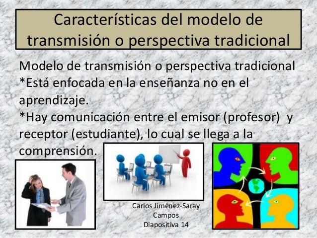 Características del modelo de transmisión o perspectiva tradicional Modelo de transmisión o perspectiva tradicional *Está ...