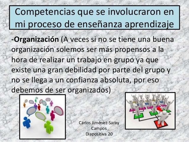 -Organización (A veces si no se tiene una buena organización solemos ser más propensos a la hora de realizar un trabajo en...