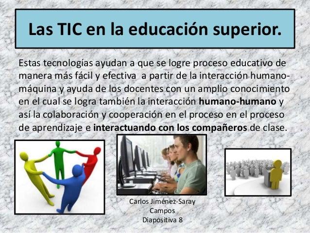 Estas tecnologías ayudan a que se logre proceso educativo de manera más fácil y efectiva a partir de la interacción humano...