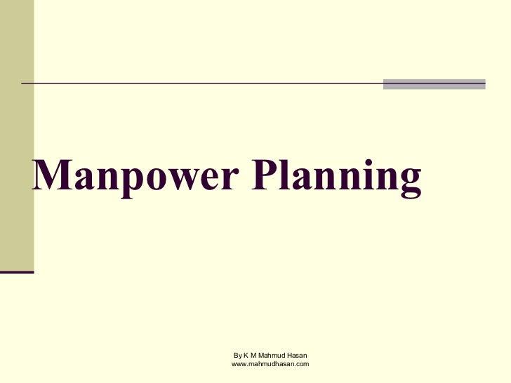 manpower planning sample