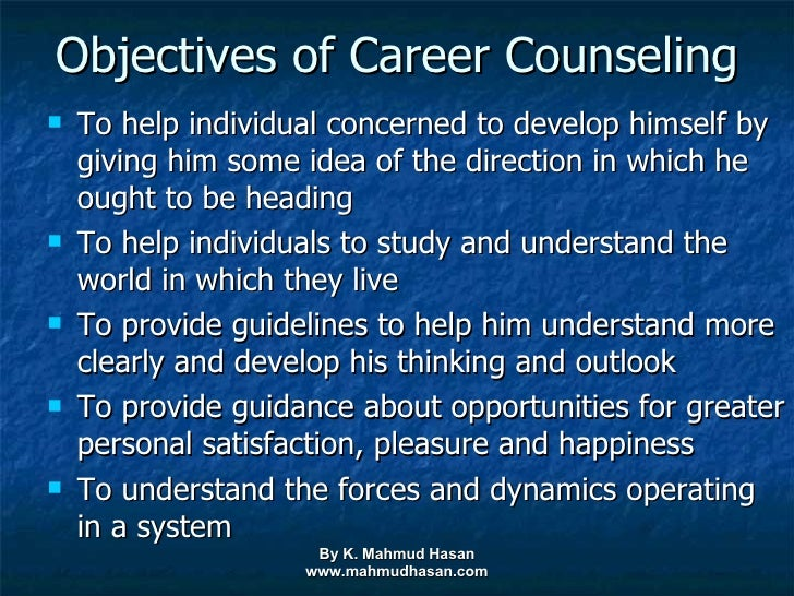 objective of career counselling